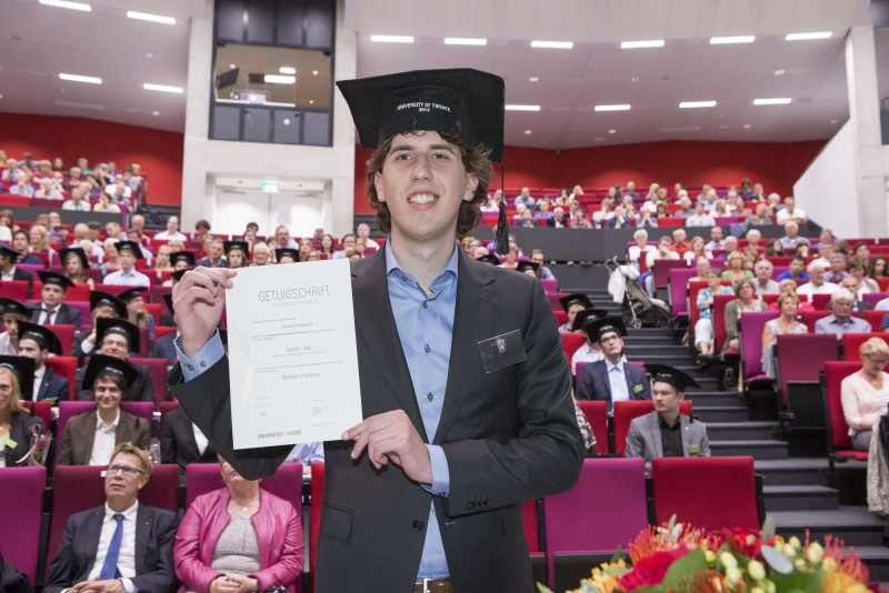 Bachelor graduation ceremony